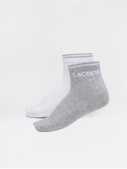 Lacoste Chaussettes rippe argent