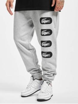 Lacoste Jogging kalhoty Fleece šedá