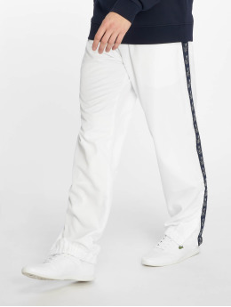 Lacoste Joggingbyxor Croco Stripe vit
