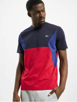 Lacoste t-shirt Sport blauw