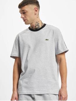 Lacoste T-Shirt Logo Tape grau