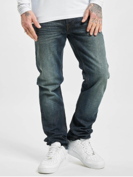 Lee Straight fit jeans Basic  blauw