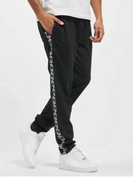 Les Hommes joggingbroek On Side zwart