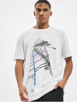 Les Hommes Tričká Graphic City  biela