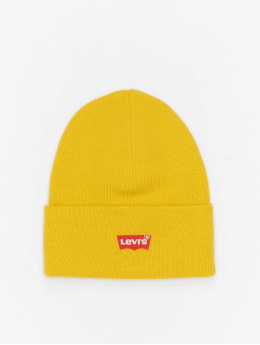 Levi's® Beanie Red Batwing Embroidered Slouchy yellow