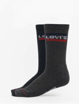 Levis® Dobotex Ponožky 120SF Regular Cut Sportswear Logo 2 Pack šedá