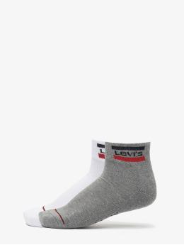 Levis® Dobotex Ponožky 144NDL Mid Cut Sportswear Logo 2P biela