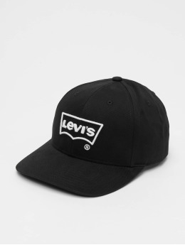 Levi's® Flexfitted Cap Big Batwing Non Flex Fit Puff Embroid zwart