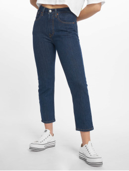 Levi's® High Waisted Jeans 501 Crop Shot indaco