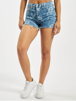 Levi's® shorts 510 Original High Low Logo blauw
