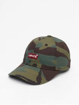 Levi's® Snapback Caps Mid Batwing Ball Print hnědožlutý