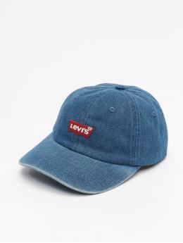 Levi's® Snapback Caps Mid Batwing Ball Denim modrý