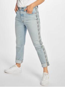 Levi's® / Straight Fit Jeans 501® Crop i blå