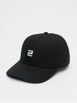 Lifted snapback cap Elin zwart