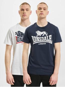 Lonsdale London T-paidat Loscoe 2-Pack valkoinen