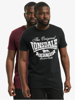 Lonsdale London T-Shirt Torbay - Double Pack schwarz