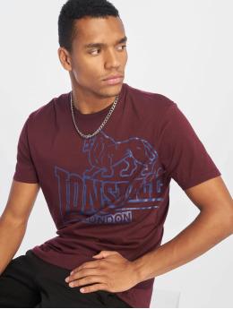 Lonsdale London T-Shirty Langsett czerwony