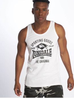 Lonsdale London Tank Tops Hazelwood blanco