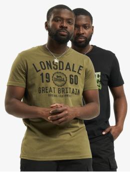 Lonsdale London Tričká Bangor 2-Pack  èierna