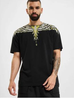 Marcelo Burlon Camiseta Birds Wings Regular  negro