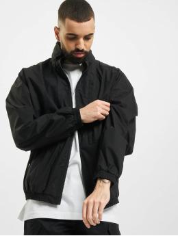 Marcelo Burlon Lightweight Jacket Logo Tech Cott Hood  black