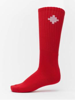 Marcelo Burlon Socks Cross Sideway red