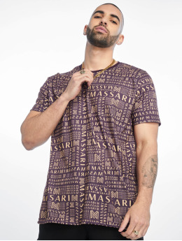 Massari T-Shirt Bru pourpre