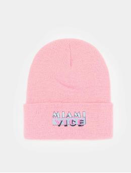 Merchcode Beanie Miami Vice Logo  rosa