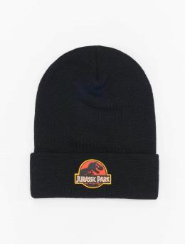 Merchcode Beanie Jurassic Park Logo  schwarz