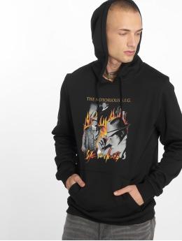 Merchcode Bluzy z kapturem Biggie Flames czarny