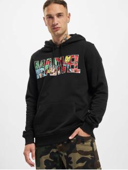 Merchcode Bluzy z kapturem Marvel Logo Character czarny