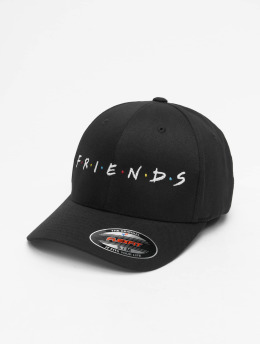 Merchcode Flexfitted Cap Friends Logo schwarz