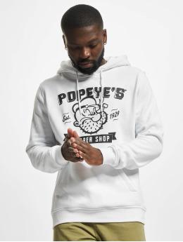 Merchcode Hoodie Popeye Barber Shop  white