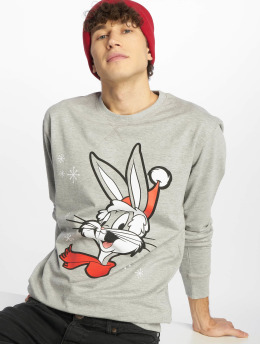 Merchcode Pulóvre Bugs Bunny Christmas šedá