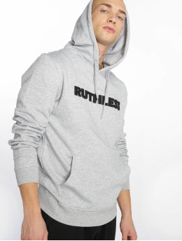 Merchcode Sudadera Ruthless Embroidery gris