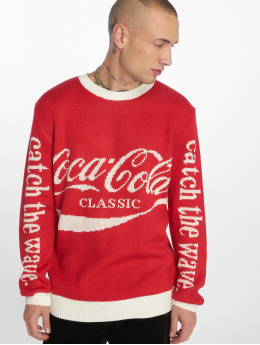 Merchcode Svetry Coca Cola Xmas červený