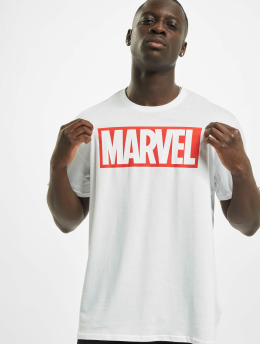 Merchcode T-paidat Marvel Logo valkoinen