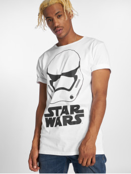 Merchcode T-shirt Star Wars Helmet bianco