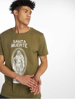 Merchcode t-shirt Santa Muerte olijfgroen