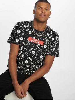 Merchcode T-shirt Coca Cola Aop Box Logo svart