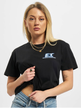 Merchcode T-shirt Ladies E.T. Logo And Space svart