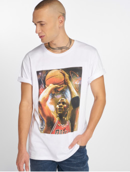 Merchcode T-Shirt Michael Basketball weiß