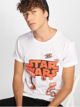 Merchcode T-Shirt Star Wars Patches weiß