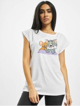 Merchcode T-Shirt Tom & Jerry Pose weiß