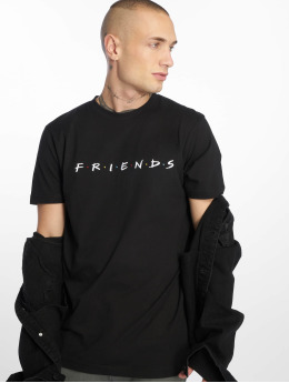 Merchcode t-shirt Friends Logo Emb zwart