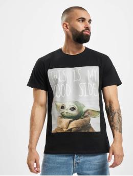 Merchcode t-shirt Baby Yoda Good Side zwart