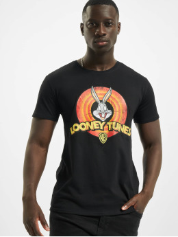 Merchcode t-shirt Looney Tunes Bugs Bunny Logo zwart