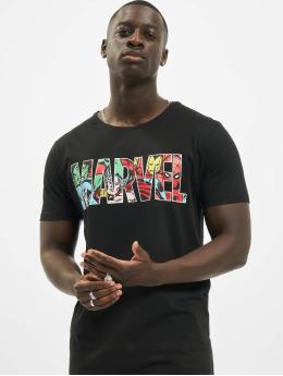 Merchcode t-shirt Marvel Logo Character zwart