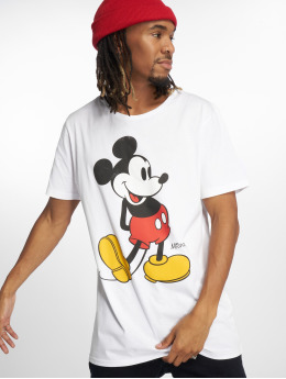Merchcode T-shirts Mickey Mouse hvid