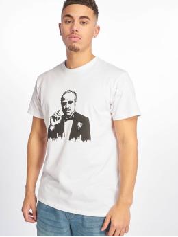 Merchcode T-shirts Godfather Painted Portrait hvid